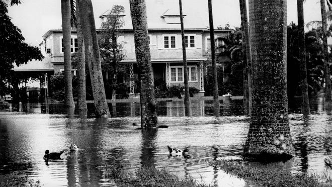 Flooding in Fort Myers after Hurricane Donna in 1960.
