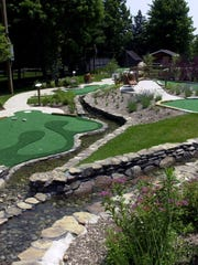 A portion of the 18-hole miniature golf course at Germonds