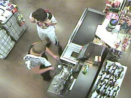 This case involves a subject (black tank top) who used a credit card at Walmart on Skyline on Aug. 25 shortly after 2 p.m. for under $10 and then made a purchase online later that night. The suspect may live in the area of the Walmart.