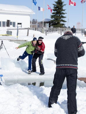 A Polar Bear Plunge was held at the Bayfield Pavilion on Saturday, March 1, 2014.