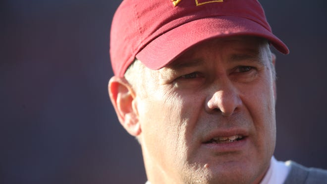 Iowa State football coach Paul Rhoads will be keeping a close eye on a few position battles during Saturday's Spring Game.