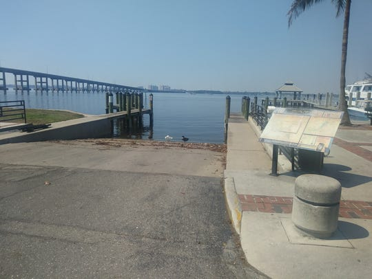 Boat ramp in downtown Fort Myers was closed for the