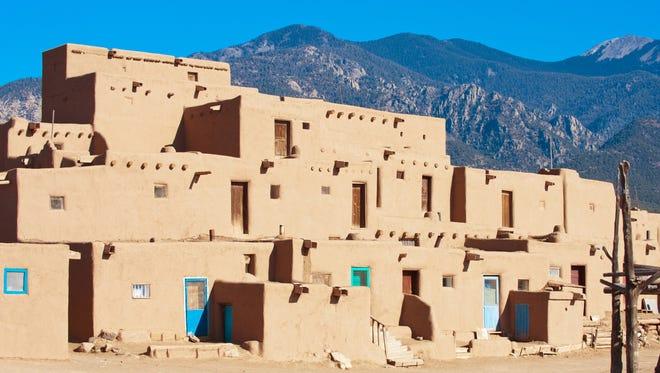 Taos Pueblo is an ancient pueblo belonging to a Tiwa-speaking Native American tribe of Puebloan people.