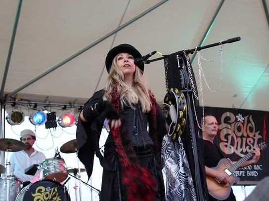 Windy Wahlke plays the role of Stevie Nicks in Gold