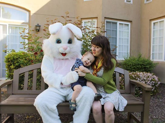 Meeting the bunny