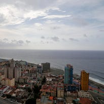 This coastal view of Havana, Cuba, shows the United States Interests Section diplomatic mission, the third tall building from the right, on May 24, 2015.