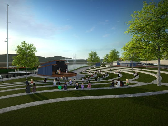 A rendering of the Poughkeepsie Landing development
