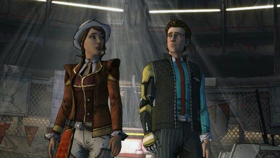 """Unlikely pair Fiona and Rhys team up in the highly amusing story-based adventure game """"Tales from the Borderlands Episode 1: Zero Sum."""""""
