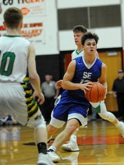 Southeastern boys basketball reached a district semifinal last season and graduated leading scoring Rex Hartman but junior Lane Ruby could play a big role.