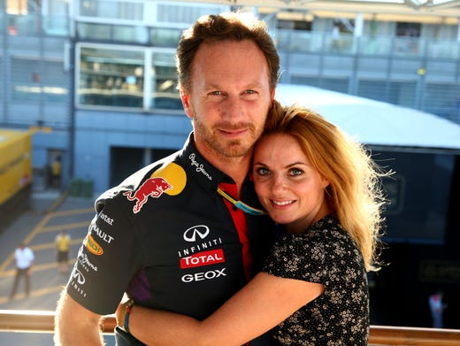 Former Spice Girl Geri Halliwell and husband Christian
