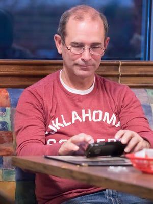 Lakeview School District Superintendent Dave Peterson anxiously awaited results of the bond issue elections Tuesday evening at Miller's Time Out.