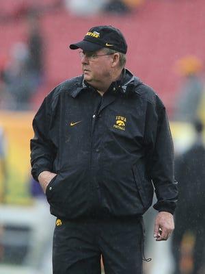 Greg Davis called every play during Iowa's 48-7 win against Northwestern, the head coach said.