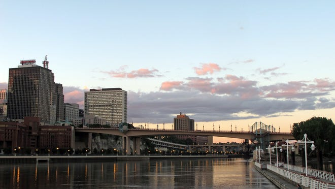 Saint Paul, on the Mississippi River, is the smaller of Minnesota's Twin Cities.