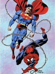 Bob McLeod's take on Superman and Spider-Man.  The comic-book artist appears at Saturday's SWFL SpaceCon in Fort Myers.