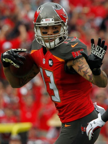 Buccaneers WR Mike Evans was one of a record three