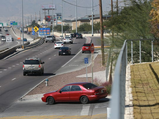 Traffic moves west on Gateway Boulevard West in front