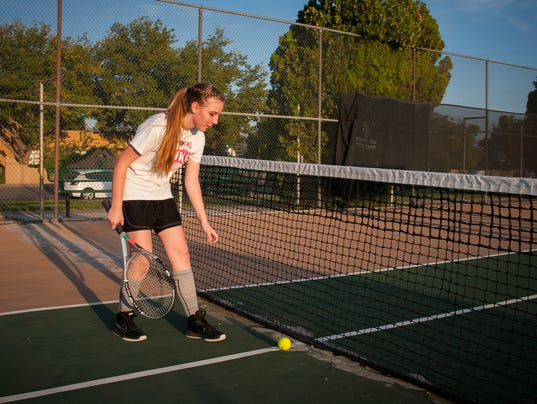 Lions Park Tennis Courts in Bad Shape