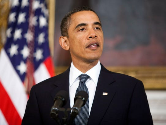 President Obama speaks at the White House about the