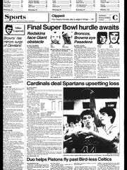 Battle Creek Sports History: Week of Jan. 12, 1987
