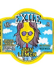 """Artwork for """"John  Lemon Tart Pale Ale,"""" a collaboration brew from Des Moines-based Exile Brewing Co. and Denver's Station 26 Brewing Co."""