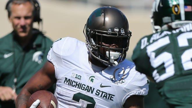Michigan State Spartans running back LJ Scott.