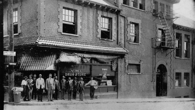 The YMI Drug Store,  on the corner of Eagle and Market street in downtown Asheville, served for many years as The Block's teen social center. This photo, circa 1920, is courtesy of the Black Highlander Collections, Special Collections, Ramsey Library, UNC Asheville.