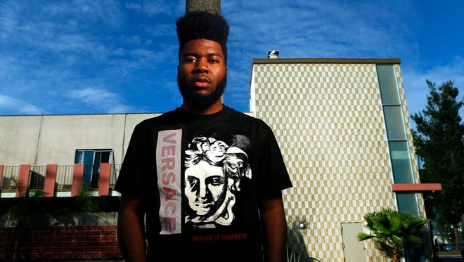 "Rising El Paso singer Khalid is photographed near Fairfax Ave. in Los Angeles on February 16, 2017.  His breakout single, ""Location"" is an urban radio smash and the 18 year old classically trained singer is prepping his debut album, ""American Teen.""  Within a week he's turning 19 and going on his first European tour after performing to a sold out crowd in Los Angeles."