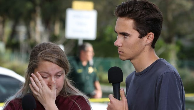 Parkland, Fla., high school students like David Hogg, right, have jumpstarted the gun control debate by pivoting from grieving to advocacy after 17 of their schoolmates were shot to death on Feb. 14.
