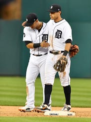 Jose Iglesias and Ian Kinsler