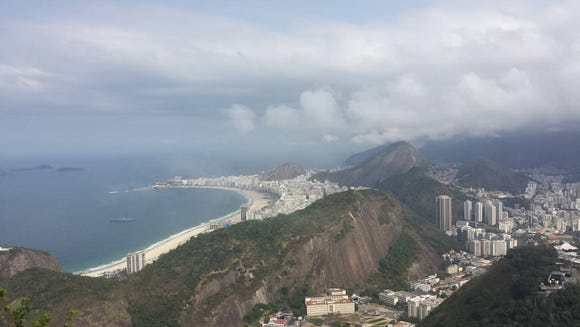 A view of Rio de Janeiro from above. (Photo courtesy of Rachel Gonsalves)