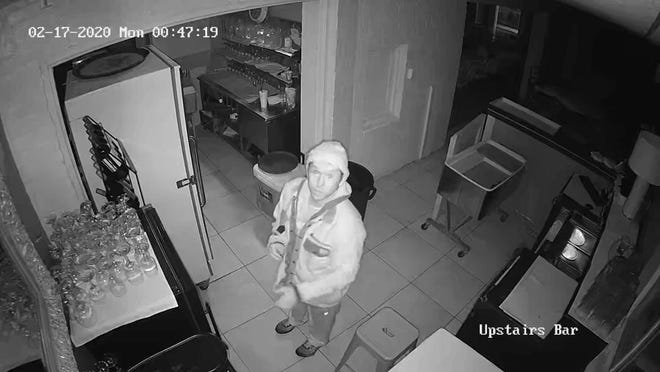 The Ardmore Police Department is requesting the public's assistance in locating a male burglary suspect captured on video footage around 12:47 a.m. on Feb. 20.