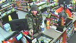 A video image of the suspect in the shooting of a Circle K clerk Saturday night.