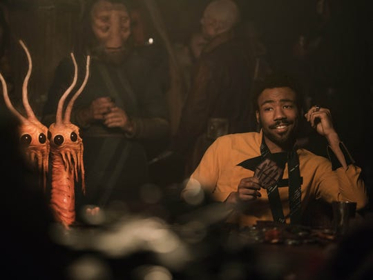 "Donald Glover as Lando Calrissian in ""Solo""."