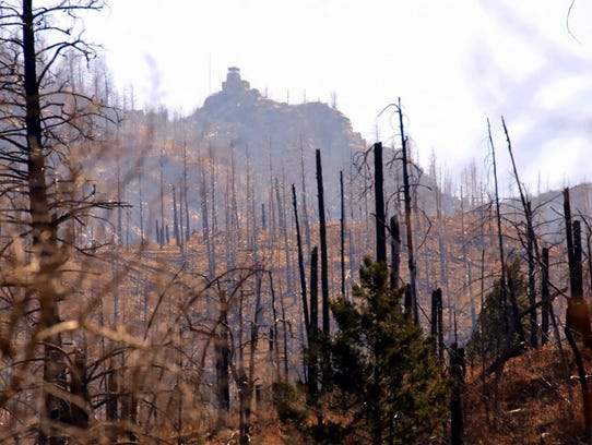 For the first time since the Little Bear Fire, photographer