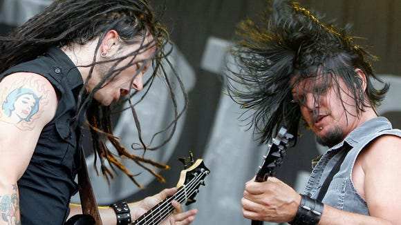 John Moyer, bassist, left, and Dan Donegan, guitarist