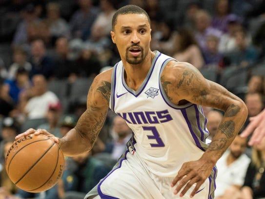 Sacramento Kings guard George Hill (3)