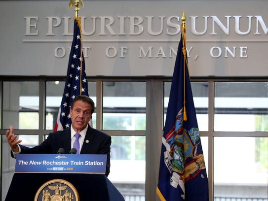 Gov. Andrew M. Cuomo at the opening of the new Rochester