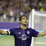 Orlando City's Kaka, shown celebrating a goal, has scored five times in the past seven MLS games.