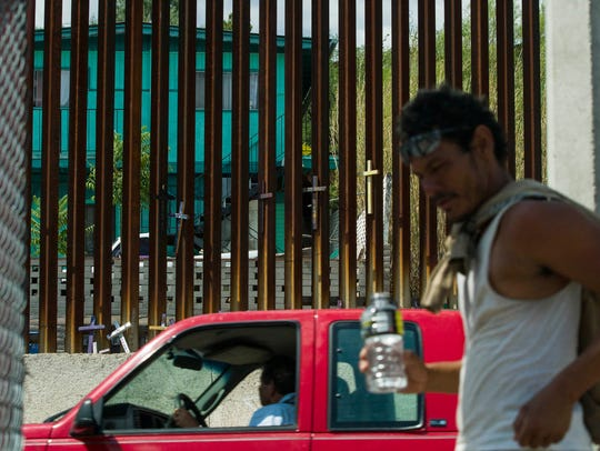 Getting too close to the border fence in Nogales can