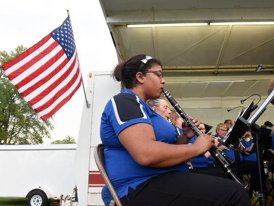 The St. Cloud Municipal Band performs during its annual concert at Hester Park before Fourth of July fireworks begin in St. Cloud.