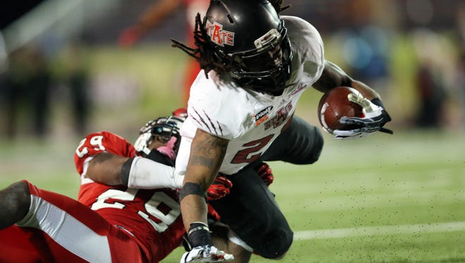 Arkansas State plans to get the ball in the hands of J.D. McKissic (23) in a multitude of ways this season.