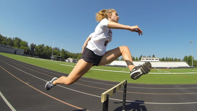 Brighton's Kennedy Smith is the 2018 Livingston County girls track and field Athlete of the Year.
