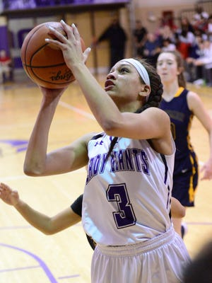 Jazmin Bulger played in her final home game Thursday for Fremont Ross.