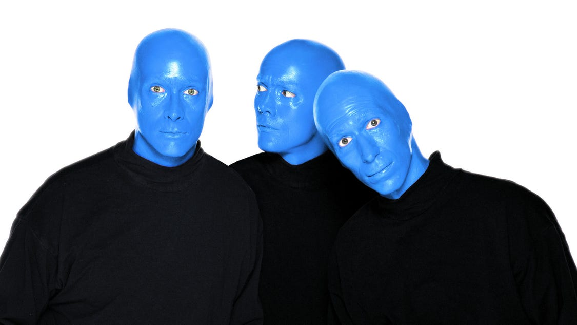 Blue Man Group is a performance art company formed in , known worldwide for its various stage productions which typically incorporate many different categories of music and art, both popular and obscure, in their performances.