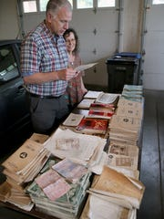 Glenn and Lori Stockton just discovered training and job materials for air wardens in the crawl space of their home, more than 70 years after the war's end.