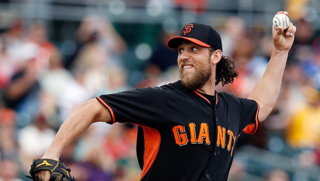 Madison Bumgarner faces the Royals, who he dominated in the World Series.