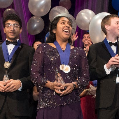 Indrani Das, 17, of Oradell, New Jersey, wins top prize