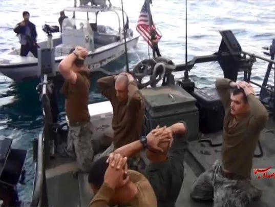 AP MIDEAST IRAN U.S. NAVY BOATS I IRN