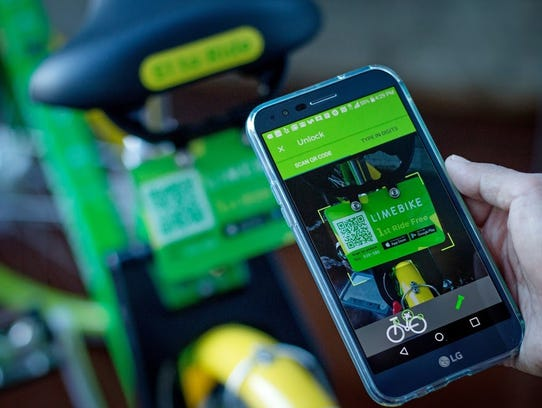LimeBike, a docketless bike-sharing program, launched in Scottsdale Nov. 14. Users can locate bikes near them and pay by downloading the LimeBike app.