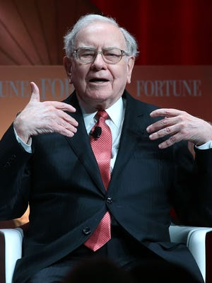 "Warren Buffett, chairman and CEO of Berkshire Hathaway, speaks during the Fortune summit on ""The Most Powerful Women"" at the Mandarin Hotel October 13, 2015 in Washington, DC."